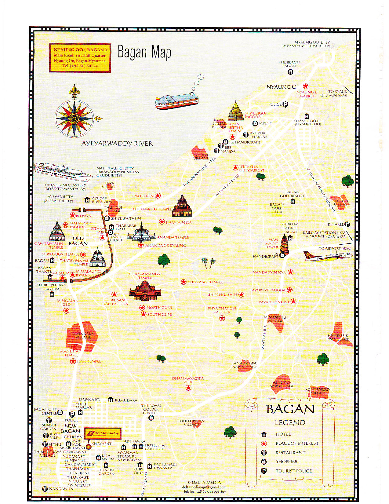 Far East Travel 2012 – Myanmar Tourist Map