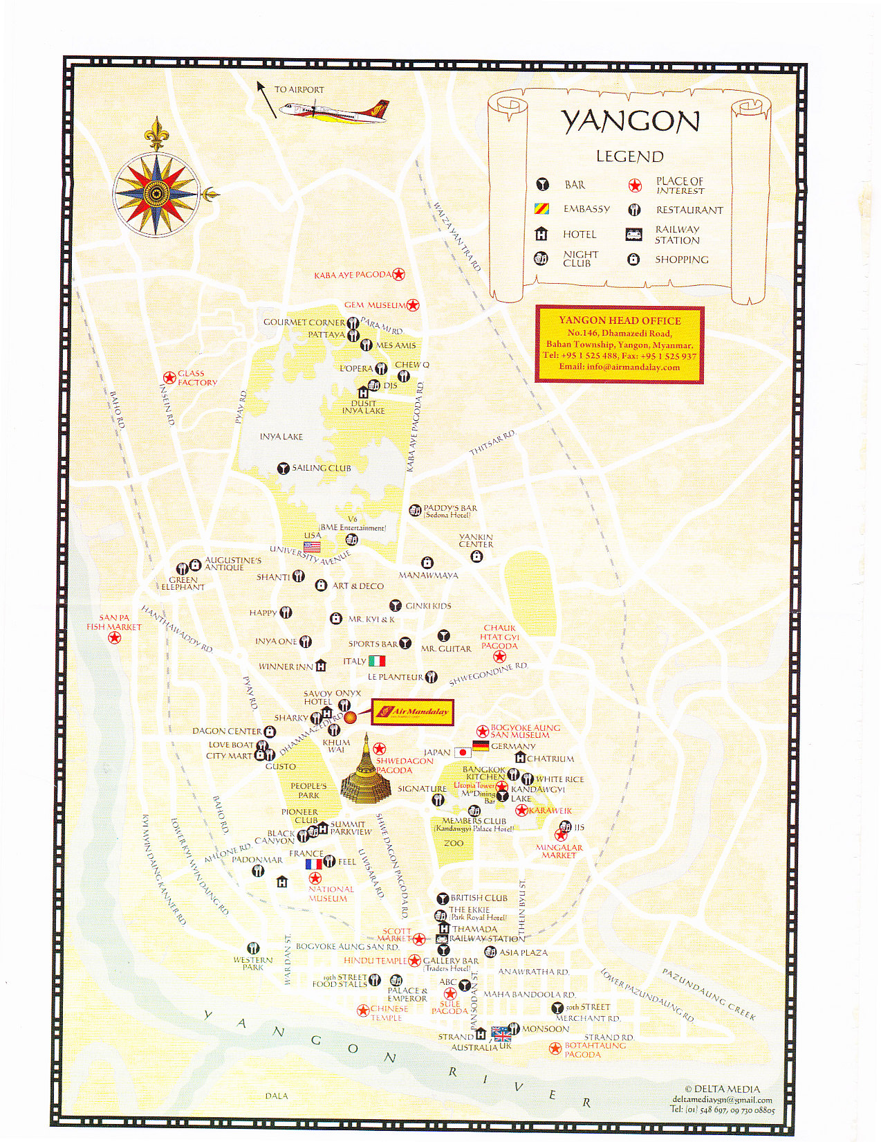Far East Travel 2012 – Burma Tourist Map