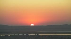 From Mandalay Hill at sunset